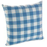 Klear Vu Liza Buffalo Check Throw Pillows in Blue (Set of 2)
