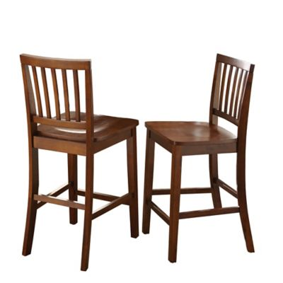 Branson Counter Height Dining Chairs In Honey Spice (Set Of 2