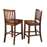 Steve Silver Co. Branson Counter Height Dining Chairs in Honey Spice (Set of 2)