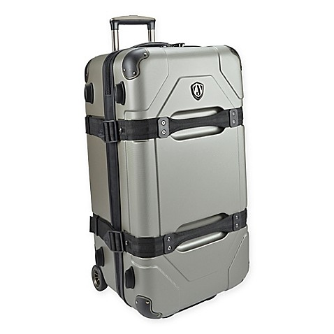 Traveler S Choice Maxporter  Rolling Trunk Luggage Silver