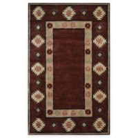 Rizzy Home Southwest Border 5-Foot x 8-Foot Area Rug in Burgundy