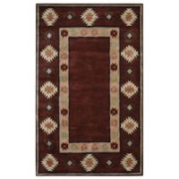 Rizzy Home Southwest Border 8-Foot x 10-Foot Area Rug in Burgundy
