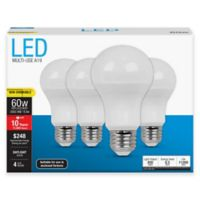 Feit Electric 4-Pack 8.5-Watt A19 Medium-Base Non-Dimmable LED Bulb