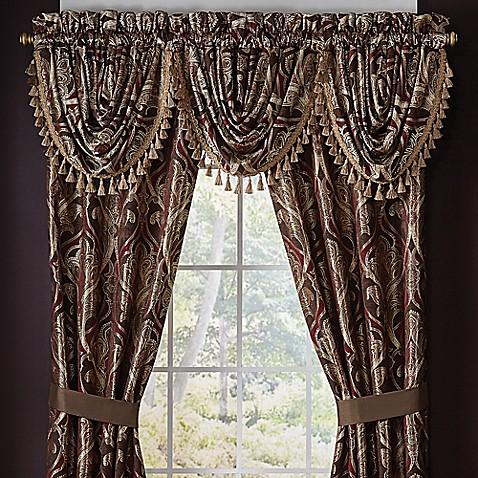 Croscill 174 Bradney 33 Inch Waterfall Window Curtain Valance