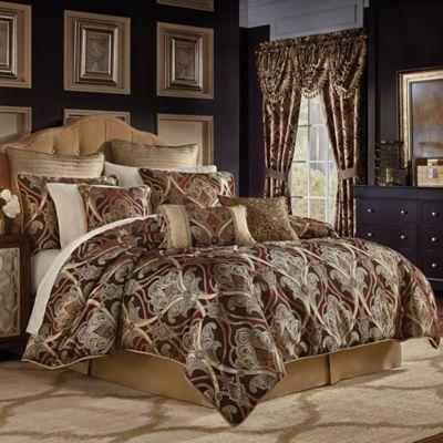 croscill bradney california king comforter set in redgold