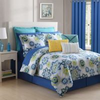Fiesta® La Vida Reversible Twin Comforter Set in Lapis