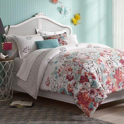 collier campbell sketchbook reversible king comforter set in whitepink