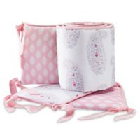 Lambs & Ivy® Happi by Dena™ Charlotte 4-Piece Crib Bumper