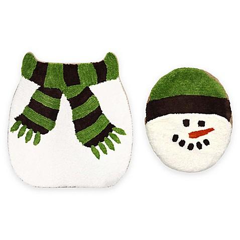 2-piece christmas snowman bath set - bed bath & beyond