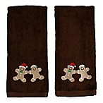 Sweet Treats Hand Towels in Brown (Set of 2)