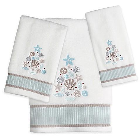 coastal christmas bath towels bed bath beyond. Black Bedroom Furniture Sets. Home Design Ideas