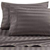 Wamsutta® Dream Zone® 1000-Thread-Count Pima Cotton Twin Sheet Set in Charcoal Stripe