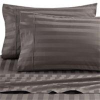 Wamsutta® Dream Zone® Stripe 1000-Thread-Count Pima Cotton Twin Sheet Set in Charcoal