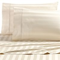 Wamsutta® Dream Zone® 1000-Thread-Count PimaCott® Twin Sheet Set in Ivory Stripe