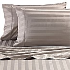 Wamsutta® Dream Zone® Stripe 1000-Thread-Count PimaCott® Queen Sheet Set in Grey