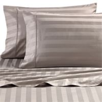 Wamsutta® Dream Zone® 1000-Thread-Count PimaCott® Twin Sheet Set in Grey Stripe