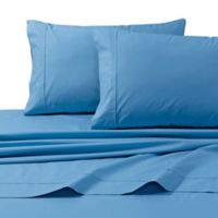 Tribeca Living 300-Thread-Count Premium Cotton King Pillowcases in Sky (Set of 2)