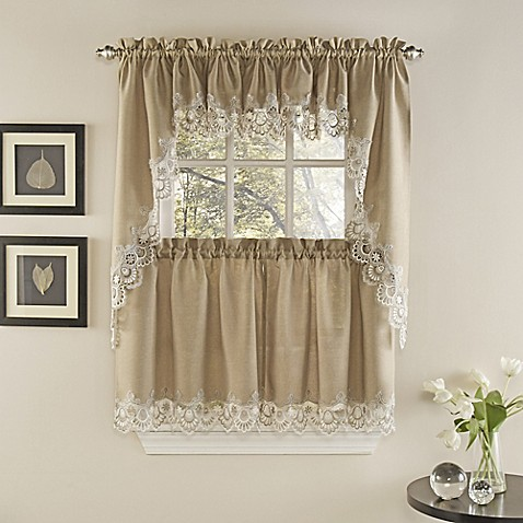 Palais Kitchen Window Curtain Tiers And Valance Bed Bath