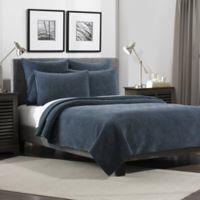 Flat Iron Lynden Velvet Standard Pillow Sham in Indigo