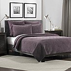 Flat Iron Lynden Velvet King Quilt in Purple