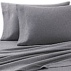Luxury Portuguese Flannel Queen Sheet Set in Heather Grey