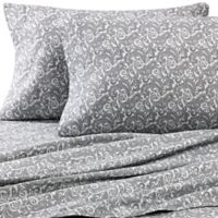 Luxury Portuguese Flannel Standard Pillowcases in Paisley (Set of 2)