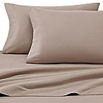 Luxury Portuguese Flannel Solid King Pillowcases in Sand (Set of 2)