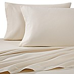 Luxury Portuguese Flannel Solid King Sheet Set in Ivory