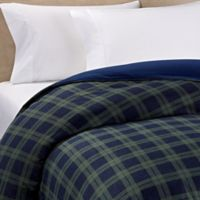 The Seasons Collection® Reversible Flannel Full/Queen Duvet Cover in Blackwatch