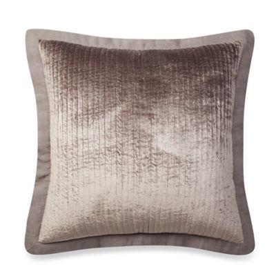 wamsutta collection velvet european pillow sham in grey