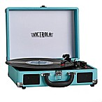 Victrola™ 3-Speed Bluetooth® Portable Suitcase Turntable in Blue