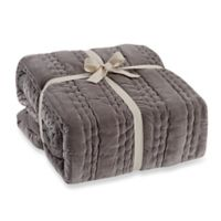 Wamsutta® Vintage Paisley Linen Throw Blanket in Grey
