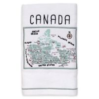 My Place Canada Hand Towel in White