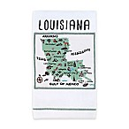 My Place Louisiana Hand Towel in White