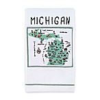 My Place Michigan Hand Towel in White