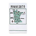 My Place Minnesota Hand Towel in White