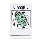 My Place Wisconsin Hand Towel in White