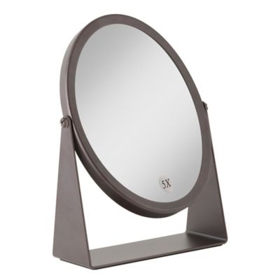 1x 5x Dual Sided Oval Vanity Mirror In Oil Rubbed Bronze