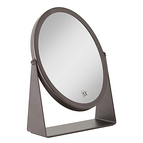 Buy 1x 5x dual sided oval vanity mirror in oil rubbed Oval bathroom mirrors oil rubbed bronze