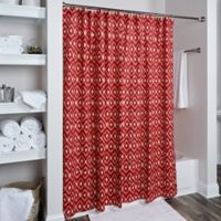 Rizzy Home Ikat Shower Curtain in Red