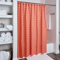 Rizzy Home Moroccan Shower Curtain in Orange