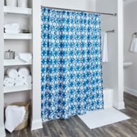 Rizzy Home Geometric Shower Curtain in Navy