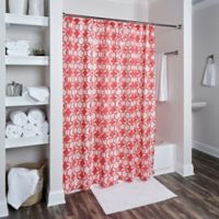 Rizzy Home Geometric Shower Curtain In Red