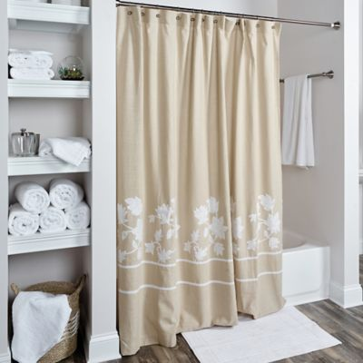 beige and white shower curtain. Rizzy Home Floral Shower Curtain In Beige White Buy Multi From Bed Bath  Beyond
