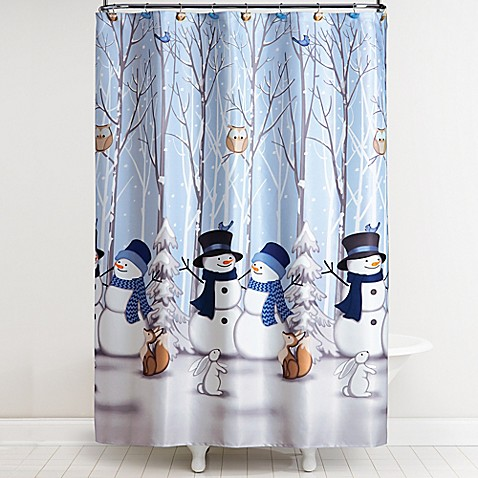 Winter Friends Shower Curtain With Hooks Bed Bath Amp Beyond