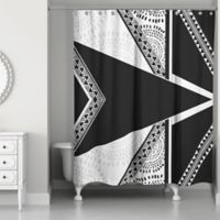 Funky Boho Tribal Shower Curtain in Black/White