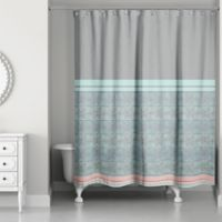 Pastel Boho Tribal Shower Curtain