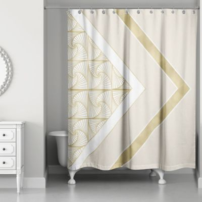silver and gold shower curtain. Spirals Shower Curtain In Ivory Gold Buy Curtains From Bed Bath  Beyond