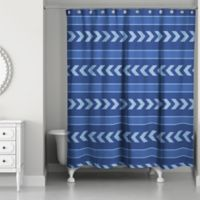 Arrows and Stripes Shower Curtain in