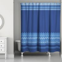 Simple Chevron Shower Curtain in Navy